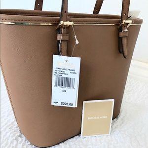 90b7c4f4fff0 Michael Kors Bags - New Authentic MK saffiano frame medium tote acorn